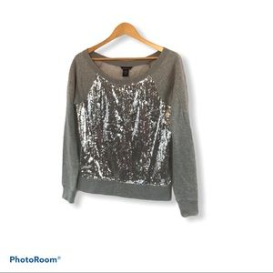Moda international Sequined sweatshirt size small